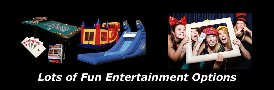 Lots of Fun!  Casino Tables, Moon Bounce, Slides, Photo Booths & so much more!